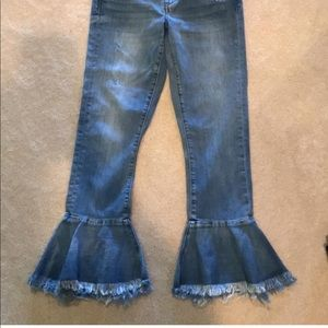 Blank NYC frayed flair jeans